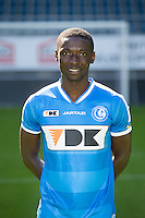 Gent's Nana Asare pictured during the 2015-2016 season photo shoot of Belgian first league soccer team KAA Gent, Saturday 11 July 2015 in Gent.