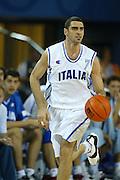 ATENE, 15 AGOSTO 2004<br /> BASKET, OLIMPIADI ATENE 2004<br /> ITALIA - NUOVA ZELANDA<br /> NELLA FOTO: MATTEO SORAGNA<br /> FOTO CIAMILLO