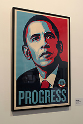 Shepard Fairey,  Obey Obama progress 2003