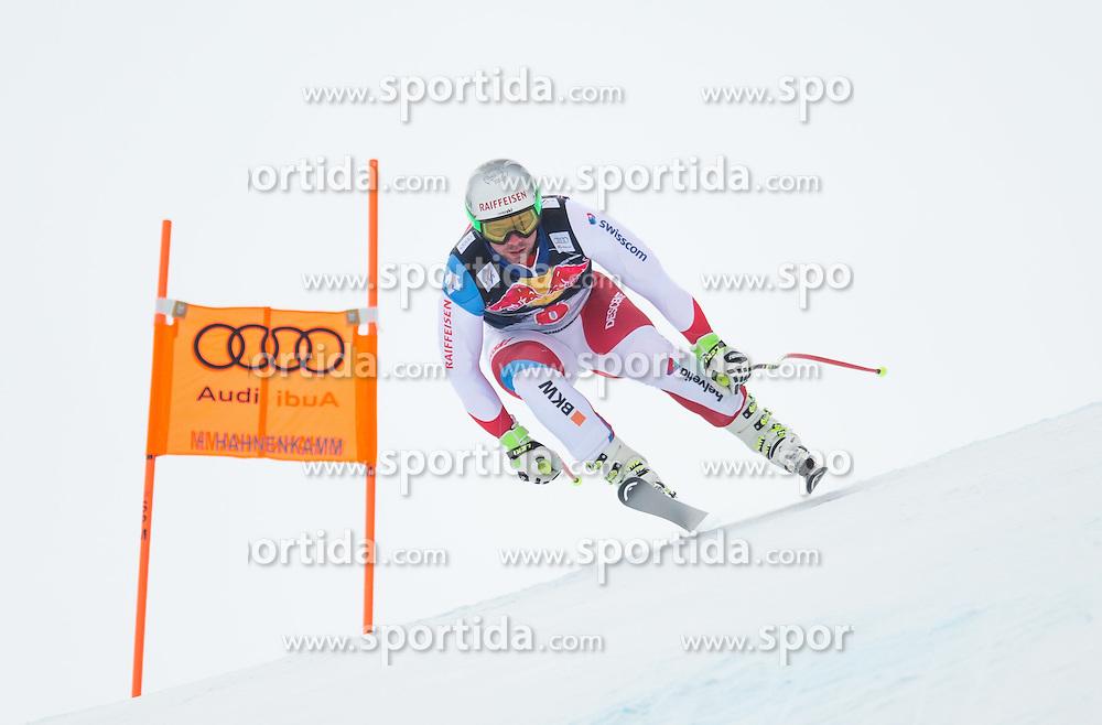 19.01.2016, Streif, Kitzbuehel, AUT, FIS Weltcup Ski Alpin, Kitzbuehel, 1. Abfahrtstraining, Herren, im Bild Beat Feuz (SUI) // Beat Feuz of Switzerland in action during 1st Training of the men's Downhill Race of Kitzbuehel FIS Ski Alpine World Cup at the Streif in Kitzbuehel, Austria on 2016/01/19. EXPA Pictures © 2016, PhotoCredit: EXPA/ Johann Groder