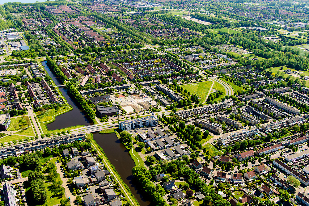 Nederland, Flevoland, Zeewolde, 07-05-2018; dorp in Zuidelijk Flevoland.<br /> Village in new polder.<br /> <br /> luchtfoto (toeslag op standard tarieven);<br /> aerial photo (additional fee required);<br /> copyright foto/photo Siebe Swart