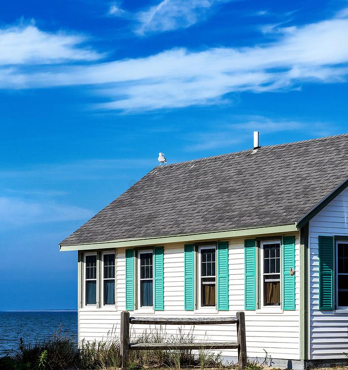 Waterfront rental cottage, Truro, Cape Cod, Massachusetts, USA