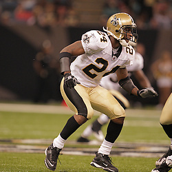 2008 August 28: Safety, Lance Schulters signed recently by the New Orleans Saints against the Miami Dolphins in a preseason match up at the Louisiana Superdome in New Orleans, LA.