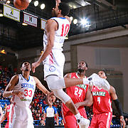 Delaware 87ers Guard RODNEY CARNEY (10) dunks the ball in the first half of a NBA D-league regular season basketball game between the Delaware 87ers and the Maine Red Claws Friday, Feb. 19, 2016 at The Bob Carpenter Sports Convocation Center in Newark, DEL.