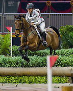 Jessica Phoenix (CAN) rides Abbey GS in the Horseware Indoor Eventing challenge at The Royal Horse Show, TORONTO, CANADA.  November 4 2016