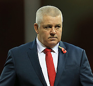 Warren Gatland Wales Head Coach before the International Test Match match at the Millennium Stadium, Cardiff<br /> Picture by Michael Whitefoot/Focus Images Ltd 07969 898192<br /> 08/11/2014