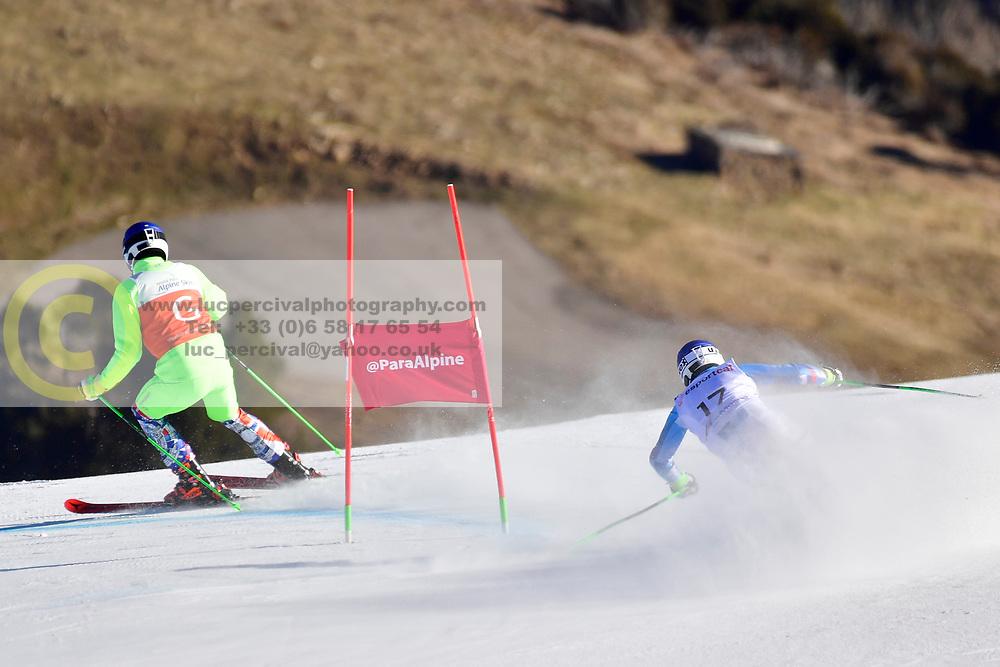 HARAUS Miroslav Guide: HUDIK Maros, B2, SVK, Giant Slalom at the WPAS_2019 Alpine Skiing World Cup, La Molina, Spain
