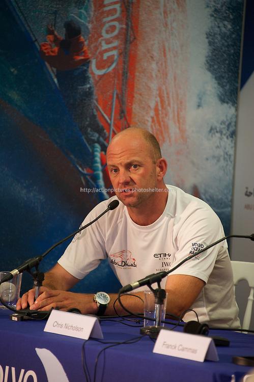 12.01.2012, Abu Dhabi. Volvo Ocean Race, skippers press conference, Ian Walker skipper of Abu Dhabi Ocean Racing, winner of in port abu dhabi race