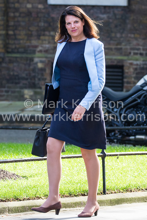 London, UK. 7 May, 2019. Caroline Nokes MP, Secretary of State for Immigration, arrives at 10 Downing Street for a Cabinet meeting.