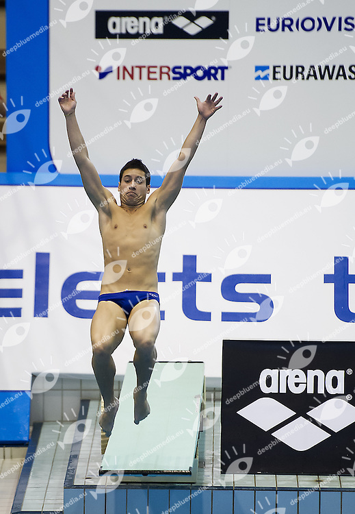 BILLI Andreas Nader  Italy ITA<br /> 1 m. springboard Men<br /> Arena European Diving Championships<br /> 18-23 June 2013 Rostock GER Germany<br /> Day 02 <br /> Photo G. Scala/Inside/deepbluemedia.eu