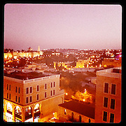 Jerusalem, Israel. September 20th 2011.View of Jerusalem by night from the Mamilla Hotel..
