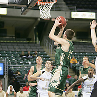 Lindbergh forward Charley Mueller (23) shoots a jumper from the corner.