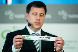 Ales Zavrl of NZS with paper NK Zarica Kranj during NZS Draw for season 2015/16 on June 23, 2015 in Brdo pri Kranju, Slovenia. Photo by Vid Ponikvar / Sportida