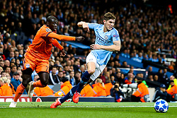 John Stones of Manchester City goes past Ferland Mendy of Lyon - Mandatory by-line: Robbie Stephenson/JMP - 19/09/2018 - FOOTBALL - Etihad Stadium - Manchester, England - Manchester City v Lyon - UEFA Champions League Group F