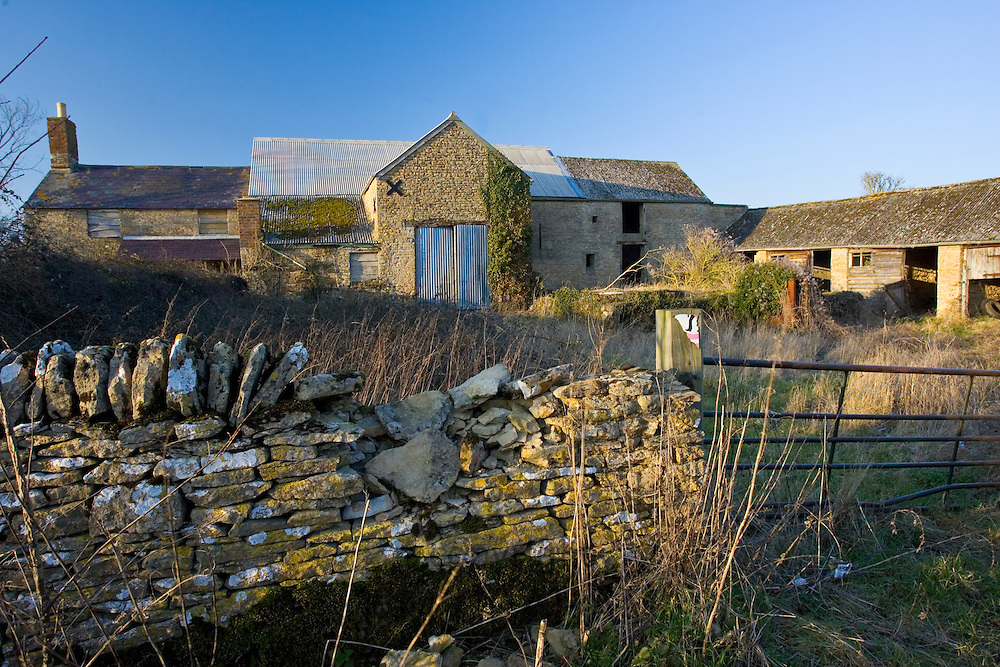 Derelict Cotswold farm building, Oxfordshire, United Kingdom