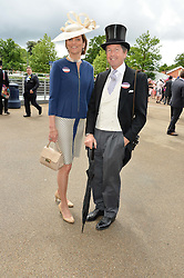 JOHN & LADY CAROLYN WARREN he is HM The Queen's racing manager at day one of the Royal Ascot 2016 Racing Festival at Ascot Racecourse, Berkshire on 14th June 2016.