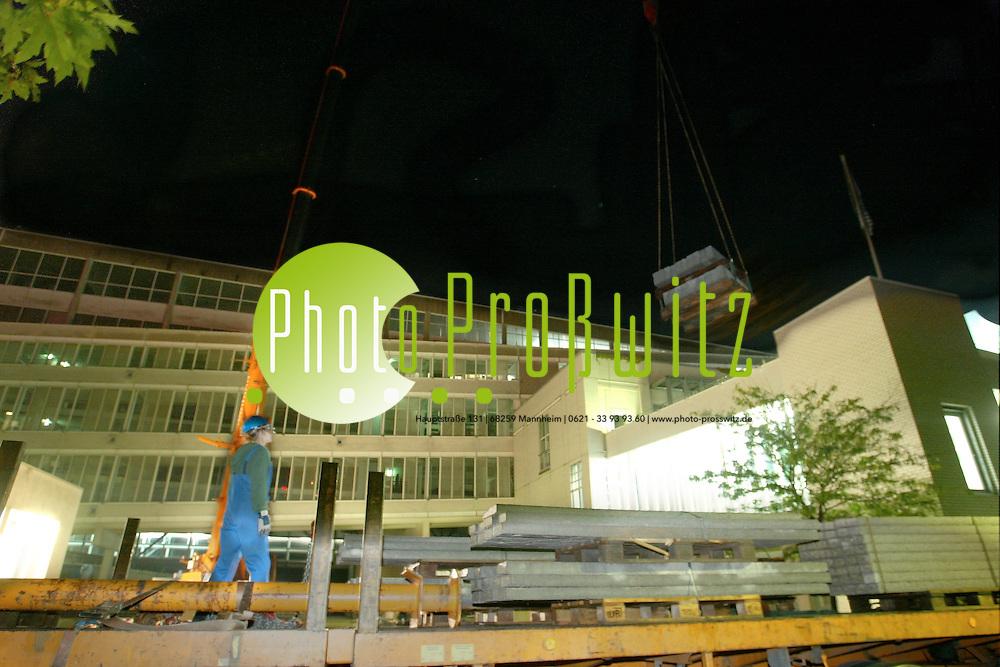 Mannheim. LTA Aufstellung einer Photovoltaikanlage der MVV<br /> <br /> Bild: Pro&szlig;witz