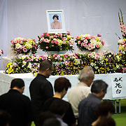 OKINAWA, JAPAN - JUNE 17 : People of Okinawa gather to offer prayers for the victim of an alleged rape and murder, Rina Shimabukuro, in Okunai-Undojo Gym, Nago, Okinawa prefecture on June 17, 2016. Kenneth Franklin Shinzato, a 32-year-old former U.S. Marine employed by Kadena Air Base, was arrested on dumping the woman's body in Onna, Okinawa Prefecture. Photo Richard A. de Guzman