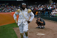 10th July 2009 - Gary, IN..A fan since the age of five, Anthony Wilson of Chicago shows off his Michael Jackson looks and moves for the fans...More than 6,000 people attended Michael Jackson's memorial service in his hometown took place at the Steel yard, Gary's minor league baseball park...Photo Credit: Heather A. Lindquist/SIPA...