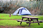 Israel, Outdoor camping at the Sea of Galilee