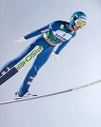 February 8, 2019 - Lahti, Finland - Michael Hayböck competes during FIS Ski Jumping World Cup Large Hill Individual Qualification at Lahti Ski Games in Lahti, Finland on 8 February 2019. (Credit Image: © Antti Yrjonen/NurPhoto via ZUMA Press)