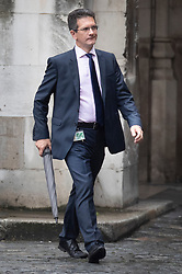 © Licensed to London News Pictures. 26/09/2019. London, UK. Conservative MP Steve Baker walks at Parliament in Westminster . The Supreme Court has ruled that Parliament had been suspended illegally. British Prime Minster Boris Johnson prorogued parliament just weeks before the UK is due to leave the EU on October 31st. Photo credit: Peter Macdiarmid/LNP