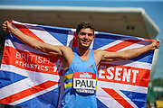 Jacob PAUL, winner of the Men's 110m Hurdles Final during the Muller British Athletics Championships at Alexander Stadium, Birmingham, United Kingdom on 25 August 2019.
