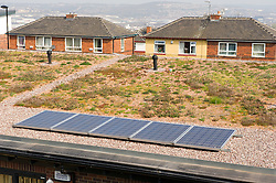 New build social housing with solar panels, Yorkstone Place, Wybourn Estate, Sheffield
