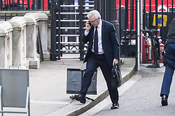 London, December 19 2017. Secretary of State for Exiting the European Union David Davis arrives at 10 Downing Street for the last cabinet meeting before the Christmas break. © Paul Davey