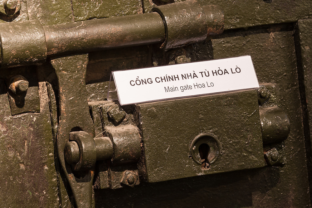 """Museum in Hanoi Vietnam at the Hoa Lo Prison, or the """"Hanoi Hilton"""" where John McCain was held as a prisoner of war during the Vietnam war."""