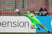 GOAL: Jill Roord (Arsenal) scores a goal 0-2 during the FA Women's Super League match between Brighton and Hove Albion Women and Arsenal Women FC at The People's Pension Stadium, Crawley, England on 12 January 2020.