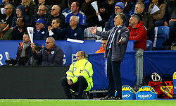 An animated Leicester City manager Claude Puel - Mandatory by-line: Robbie Stephenson/JMP - 29/10/2017 - FOOTBALL - King Power Stadium - Leicester, England - Leicester City v Everton - Premier League