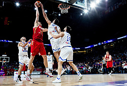 Timofey Mozgov of Russia vs Ioannis Bourousis of Greece during basketball match between National Teams of Greece and Russia at Day 14 in Round of 16 of the FIBA EuroBasket 2017 at Sinan Erdem Dome in Istanbul, Turkey on September 13, 2017. Photo by Vid Ponikvar / Sportida