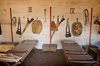 Spanish Solders El Cuartel quarters for Solado del Curia, Mission La Purisima State Historic Park, California