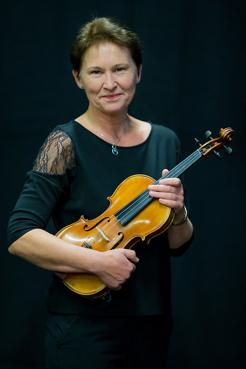 Sally Robinson, Violinist, Leader of the National Festival Orchestra on Monday 27 August 2018 at the Royal Hall. Photo by Jane Stokes