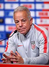 USA Press Conference and Training Session - 14 Nov 2018