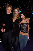The star of the film, Jertemy Sumpter with Peaches Geldof and Pixie Geldof, party after the Peter Pan film world premiere in aid of the Great Ormond St. Embankment park. 9 December 2003. hospital.© Copyright Photograph by Dafydd Jones 66 Stockwell Park Rd. London SW9 0DA Tel 020 7733 0108 www.dafjones.com