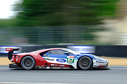 June 17, 2018 - Le Mans, Sarthe, France - Ford Chip Ganassi TEAM UK USA FORD GT Driver HARRY TINCKNELL (GBR) in action during the 86th edition of the 24 hours of Le Mans 2nd round of the FIA World Endurance Championship at the Sarthe circuit at Le Mans - France (Credit Image: © Pierre Stevenin via ZUMA Wire)