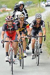 05.07.2010, AUT, 62. Österreich Rundfahrt, 2. Etappe, Landeck-Kitzbüheler Horn, im Bild v.l. Tiago Machado (POR, Team Radioshack), Stijn Devolder (BEL, Quick Step), Stefan Denifl (AUT, Cervelo Test Team), EXPA Pictures © 2010, PhotoCredit: EXPA/ S. Zangrando / SPORTIDA PHOTO AGENCY