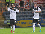 Rangers' Arnold Peralta cerebrates his goal - Dundee v Rangers - pre-season friendly to celebrate Dundee's 120th Aniversary at Dens Park<br /> <br />  - Pictures from David Young
