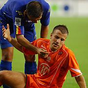 NLD/Eindhoven/20050907 - WK kwaificatiewedstrijd Nederland - Andorra, (10) Rafael van der Vaart, (9) Fernando Silva