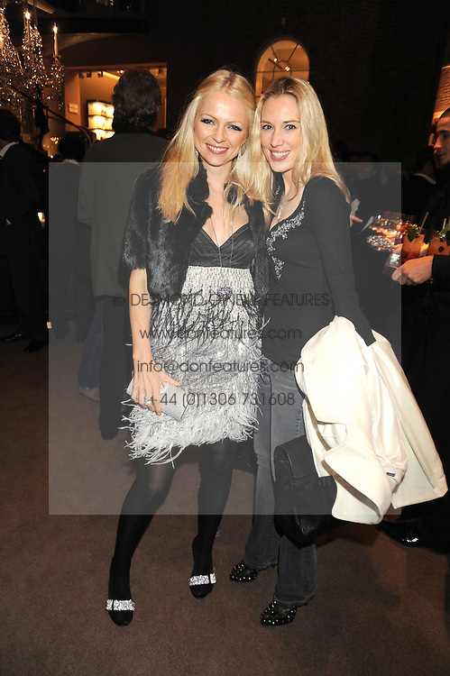 Left to right, HANNAH SANDLING and IMOGEN LLOYD WEBBER at a party to celebrate the launch of the Raffles Asprey Cocktail, held at Asprey, New Bond Street, London on 13th November 2008.