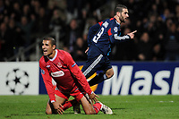 FOOTBALL - CHAMPIONS LEAGUE 2010/2011 - GROUP STAGE - GROUP B - OLYMPIQUE LYONNAIS v HAPOEL TEL AVIV - 7/12/2010 - GOAL LISANDRO (OL) - PHOTO FRANCK FAUGERE / DPPI