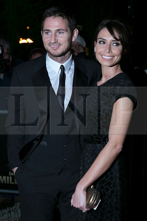 © licensed to London News Pictures. London, UK 06/12/2012. Frank Lampard and Christine Bleakey attending The Sun Military Awards at Imperial War Museum. Photo credit: Tolga Akmen/LNP