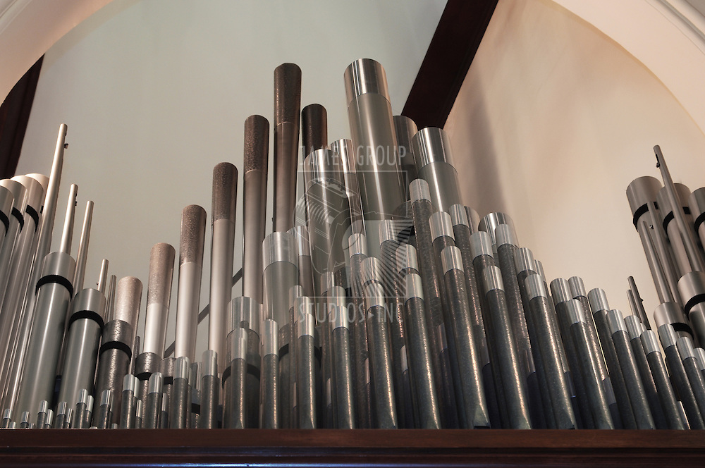 pipes from a pipe organ