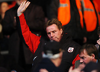 Photo: Javier Garcia/Back Page Images<br />Southampton v Middlesboro, FA Barclays Premiership, St Mary's Stadium 11/12/04<br />Harry Redknapp acknowledges the applause of the crowd at the start of the game