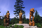 Statues, Grouse Mountain, Vancouver, British Columbia, Canada<br />