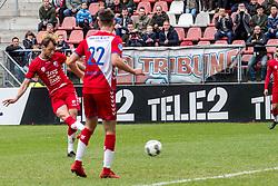 11-03-2018 NED: FC Utrecht - Vitesse, Utrecht<br /> Utrecht verslaat met 5-1 Vitesse / Willem Janssen #14 of FC Utrecht scoort de 2-0
