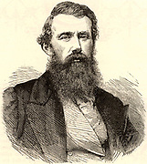 John Hanning Speke (1827-1864) born at Bideford, Devon, England.  Officer in the British Indian Army and explorer of Africa.  Accompanied Richard Burton's expedition (1855-1858), sponsored by the Royal Geographical Society, when he discovered Lake Victoria Nyanza. On a subsequent expedition of 1860-1862 he discovered the exit from the lake into the White Nile which he named Ripon Falls. Engraving from 'Heroes of Britain in Peace and War' by Edwin Hodder (London, c1880).