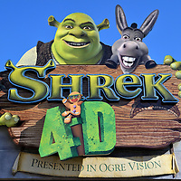 Shrek 4-D Sign at Universal in Orlando, Florida<br />